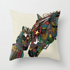 horse love stone Throw Pillow