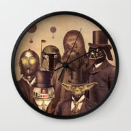 Wall Clock featuring Victorian Wars  by Terry Fan