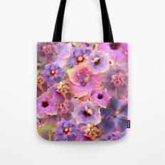 Tropical hibiscus patterns Tote Bag