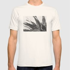 Plam Leaves Mens Fitted Tee Natural SMALL
