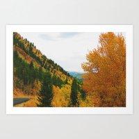 Firey Fall Art Print