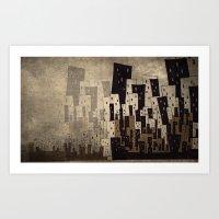 Busy City Where I Came F… Art Print