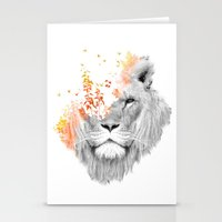 lion Stationery Cards featuring If I roar (The King Lion) by Picomodi