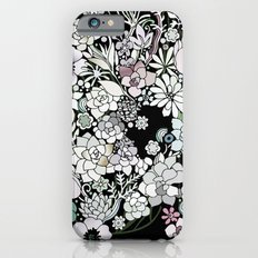 Colorful black detailed floral pattern iPhone 6 Slim Case