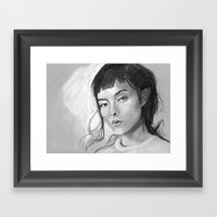 Charcoal Drawing No. 3 Framed Art Print