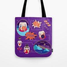 BUNNY SHIPWRECK FLOWCHART Tote Bag