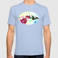 Blossom Spray Mens Fitted Tee Tri-Blue SMALL