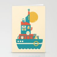 Owl Aboard Stationery Cards