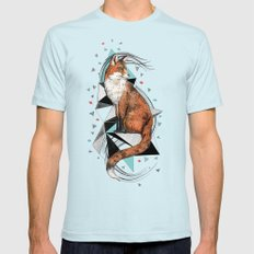 Foa The Fox Mens Fitted Tee Light Blue SMALL