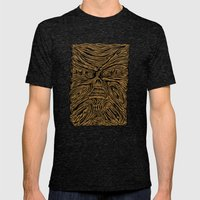 book looks like a face Mens Fitted Tee Tri-Black SMALL