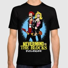 Never Mind the Blocks Mens Fitted Tee Black SMALL