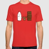 Milk + Chocolate Mens Fitted Tee Red SMALL