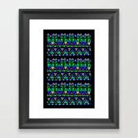 Tribal Rhythm Framed Art Print