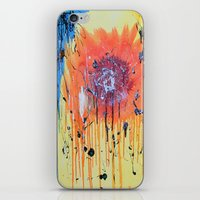 iPhone & iPod Skin featuring Bleeding poppy by ronnie mcneil