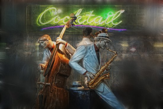 fifties cocktail jazz Art Print