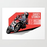 Casey Stoner - 2016 Sepang Art Print