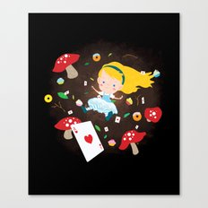 Alice Falling Down the Rabbit Hole Canvas Print