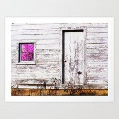 Siler City Barn with Zinnia  Art Print