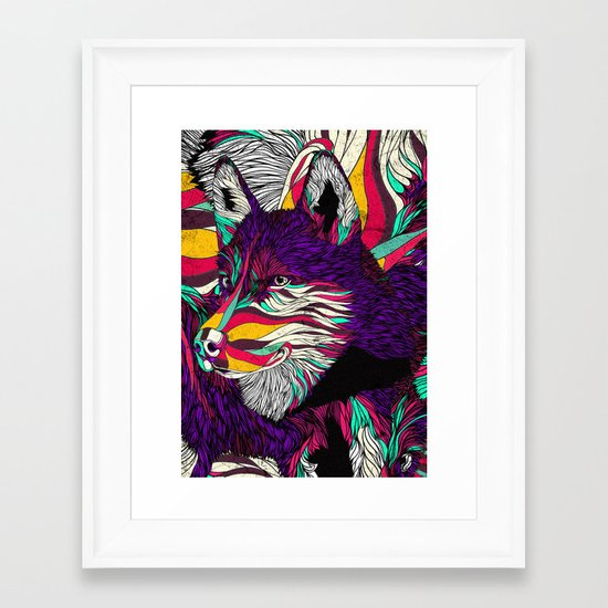 Color Husky (Feat. Bryan Gallardo) Framed Art Print