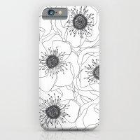 White Anemones iPhone 6 Slim Case