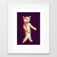 Zombie Cat Framed Art Print