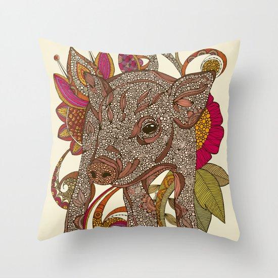 Paisley Piggy Throw Pillow