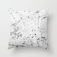 Speckle Marble Print Throw Pillow
