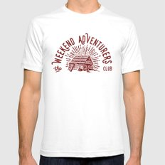 Weekend Adventurers Club Mens Fitted Tee White SMALL