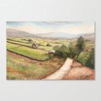 Yorkshire Farmland Canvas Print
