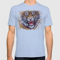 Tiger Mens Fitted Tee Athletic Blue SMALL