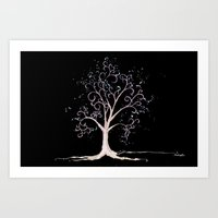 Dark Elven Tree Art Print