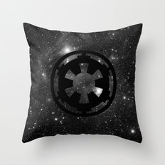 Cosmic Galactic Empire in Black and White Throw Pillow