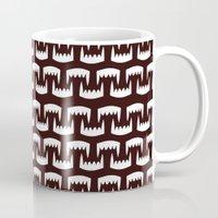 Dracula Vampire Teeth Pattern Dark Mug
