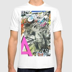 A is for Angel Mens Fitted Tee White SMALL