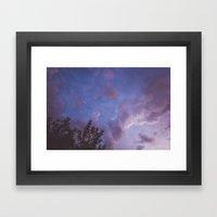 Before storm Framed Art Print