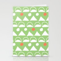 Mod Triangles Stationery Cards