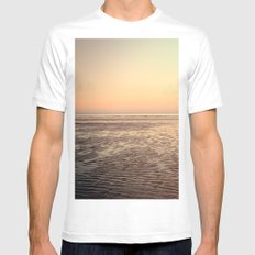 Beach SMALL White Mens Fitted Tee