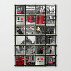 I love London Collage Canvas Print