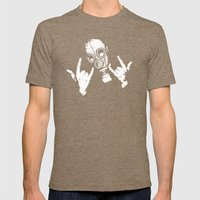 Devil Horns Mens Fitted Tee Tri-Coffee SMALL