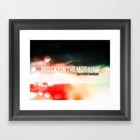 Red Sky In The Morning. Shepherds Warning. Framed Art Print
