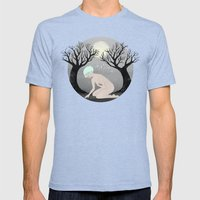 Hunted Mens Fitted Tee Tri-Blue SMALL
