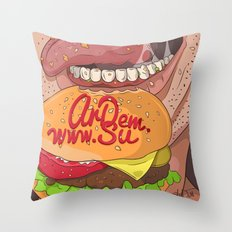 Fastfood illustration  Throw Pillow
