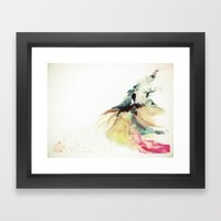 Rainbow dress Framed Art Print