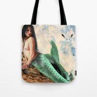 Sea Siren, Nude Mermaid … Tote Bag