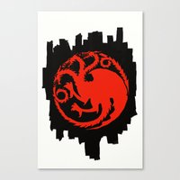 Fire And Blood - Game Of… Canvas Print