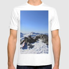 Mt Tallac Mens Fitted Tee SMALL White