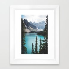 • lake moraine • Framed Art Print