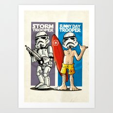 Storm and Sunny Day Trooper Art Print