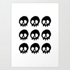 Skull pattern print Art Print
