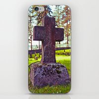Cross of stone iPhone & iPod Skin